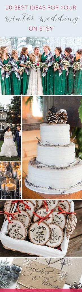 20 Best Winter Wedding Ideas On Etsy Emmaline Bride