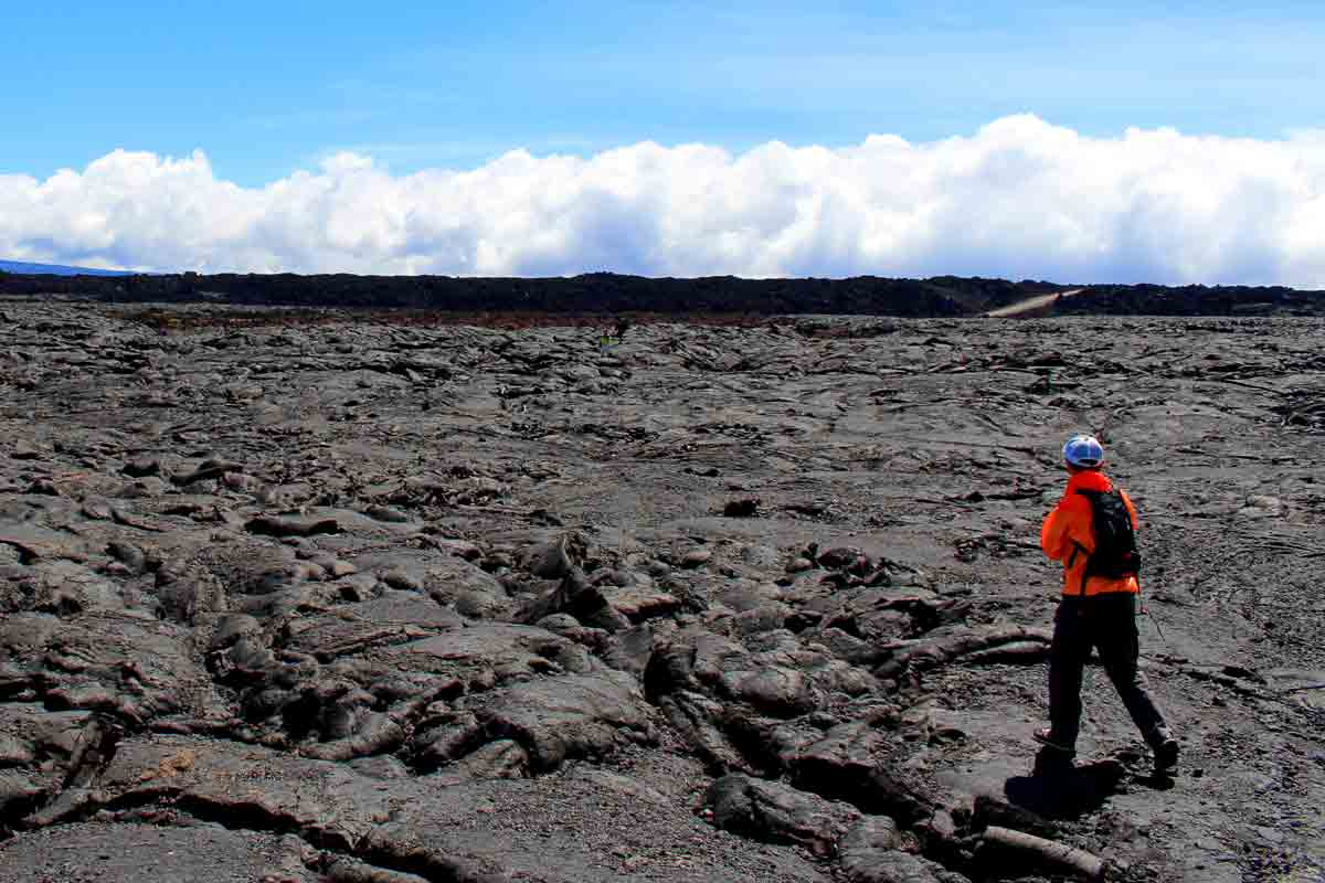 果てしなく続く 溶岩台地