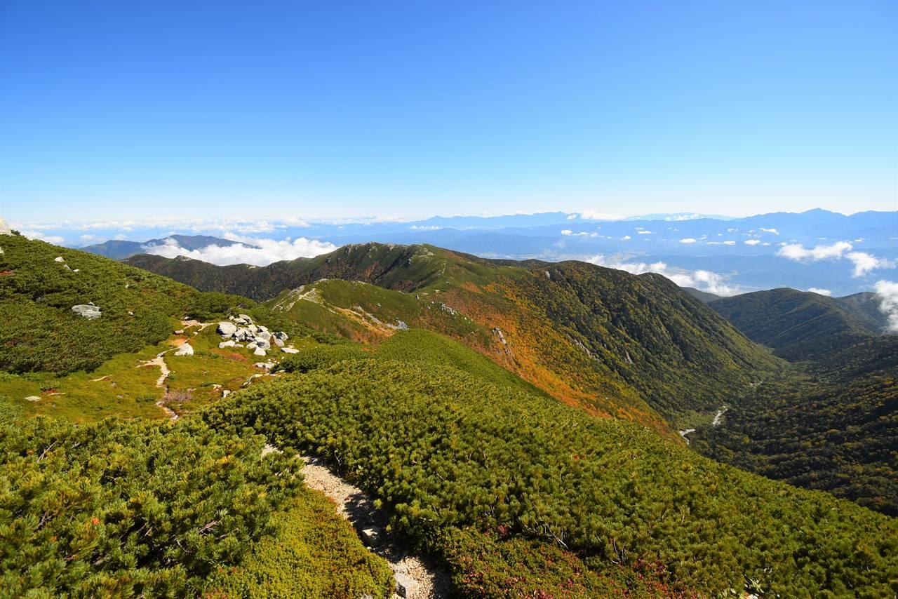 木曽駒ヶ岳~将棋頭山の稜線