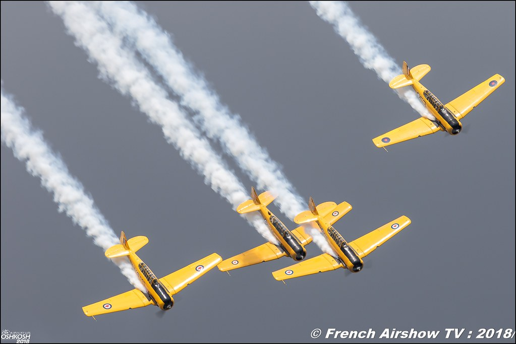Canadian Harvard Aerobatic Team EAA AirVenture Oshkosh 2018 Wisconsin Canon Sigma France contemporary lens Meeting Aerien 2018