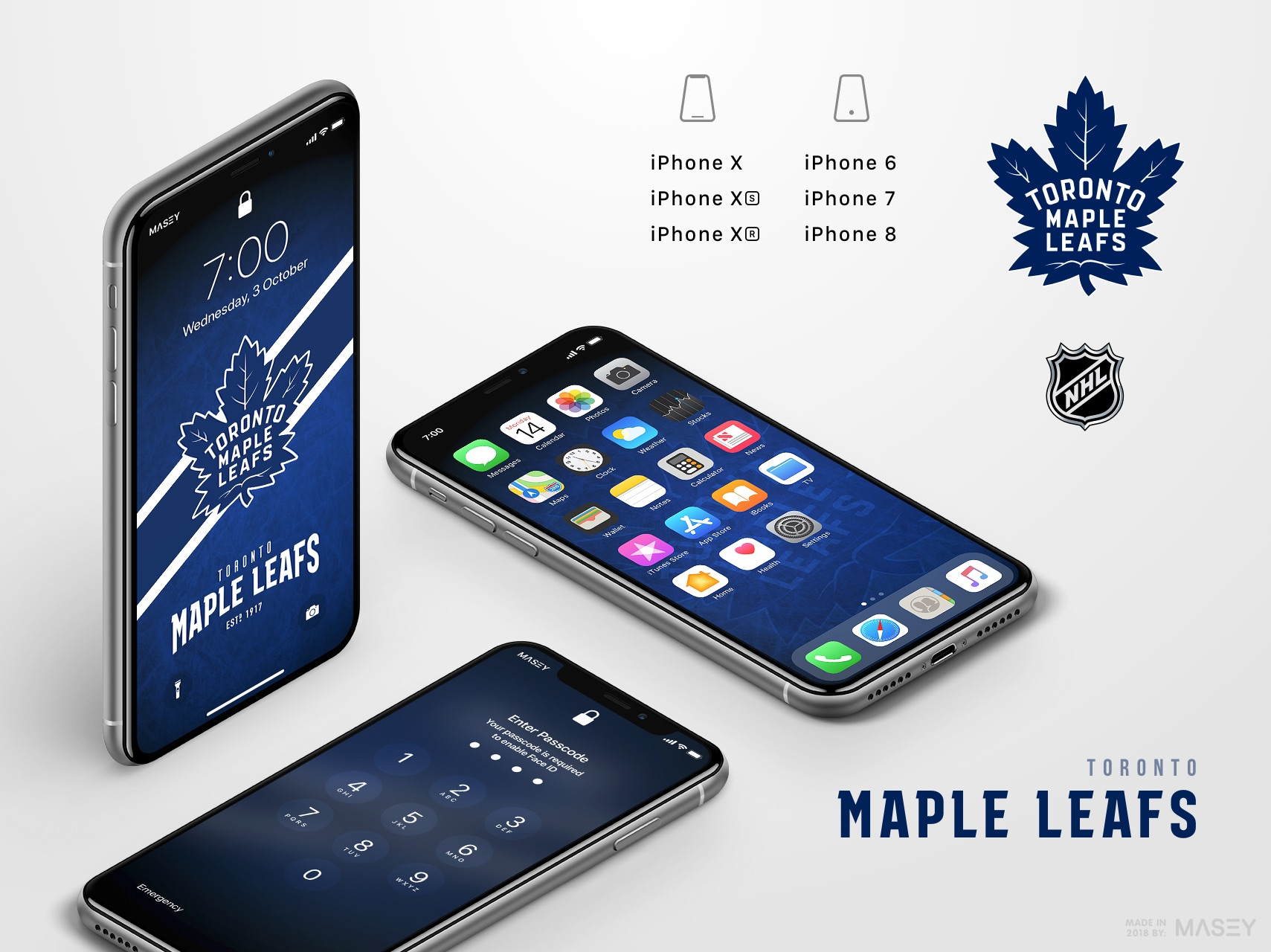Toronto Maple Leafs iPhone Wallpaper
