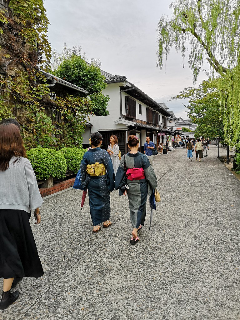 Rent a Japanese denim yukata and stroll through the Kurashiki historical on a summer's day.