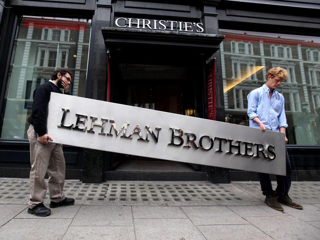 2008年,雷曼兄弟控股公司破產,標誌了金融危機的開端。(圖片來源:Oli Scarff/Getty Images)