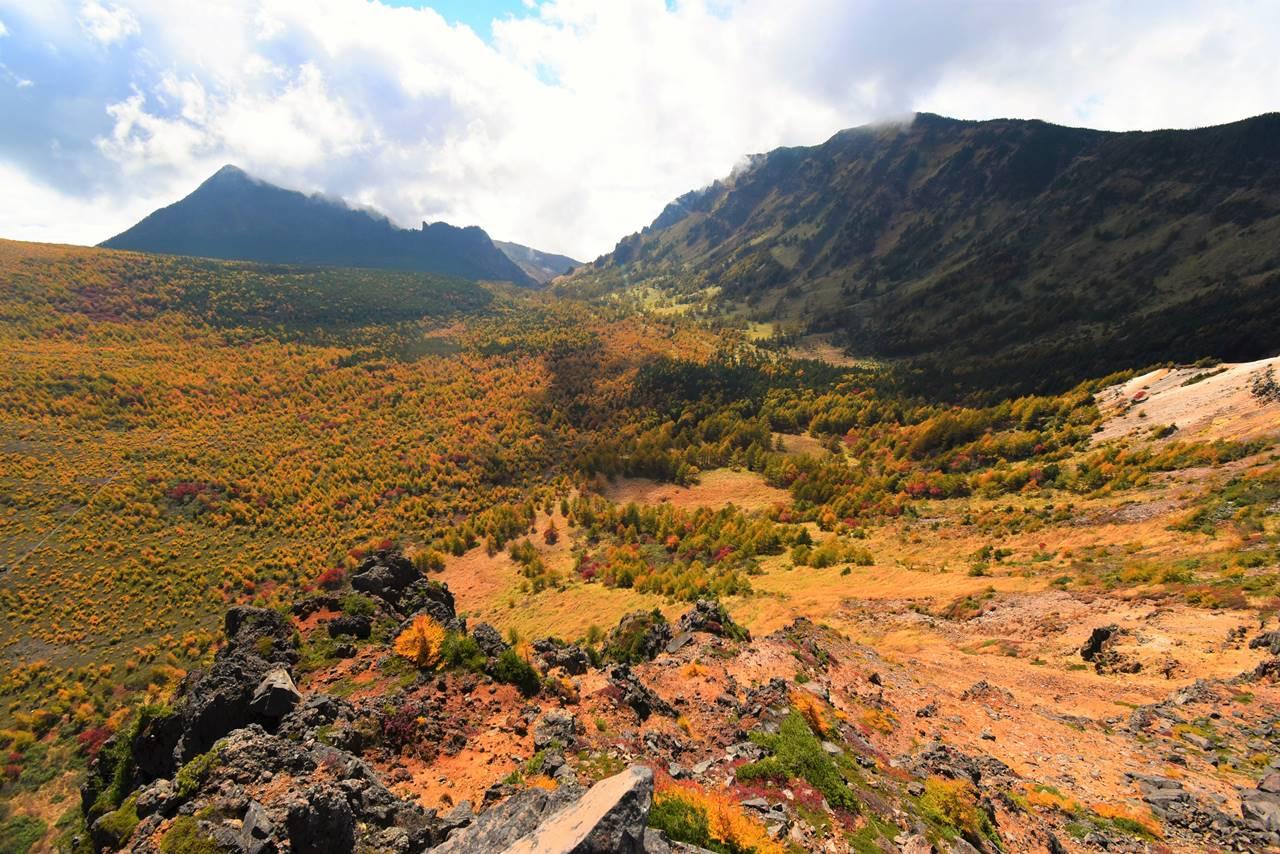 浅間山・湯ノ平高原の紅葉