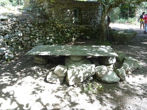 Operata de Funtanedda : la table près du caseddu