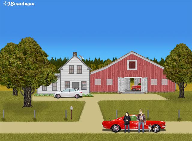 Boomer & Daisy leave the farm ©J. Boardman