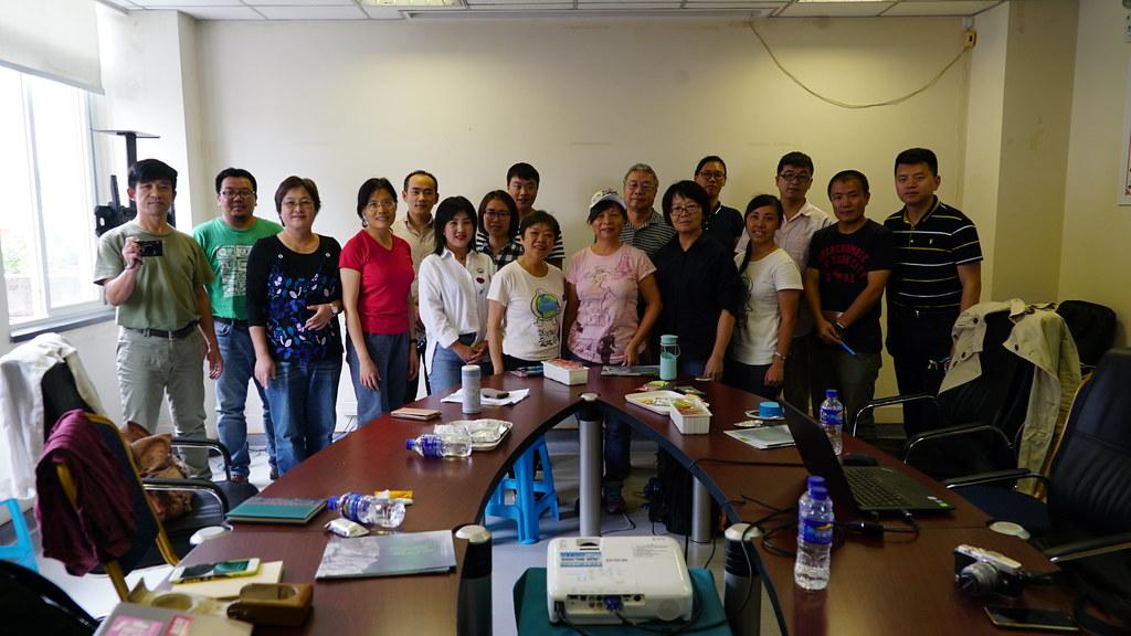 兩岸環境工作者在9月17日的交流會中合影。攝影:郭志榮