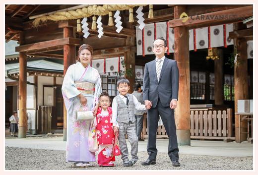 七五三 大縣神社 愛知県犬山市 家族写真