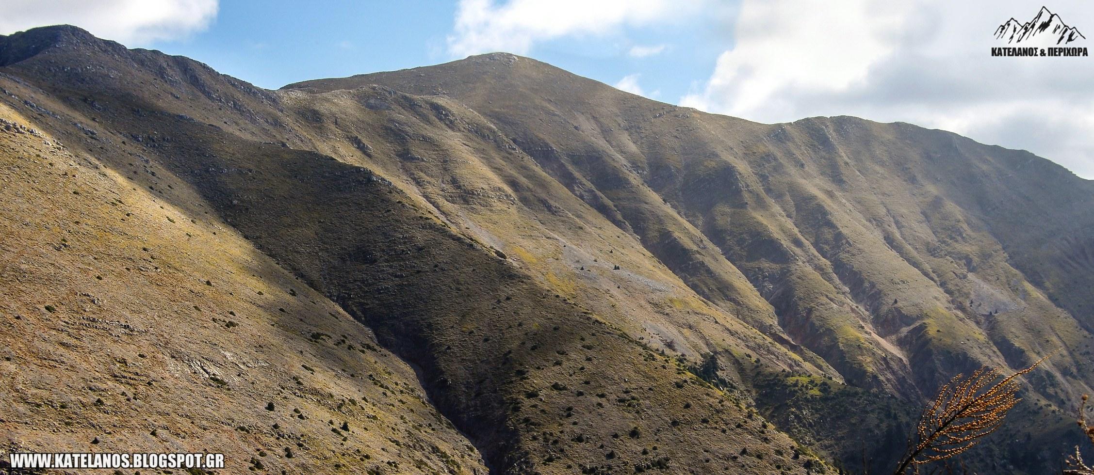 κατελάνος αγρινίου βουνοκορφή θέα απο γερακούλα