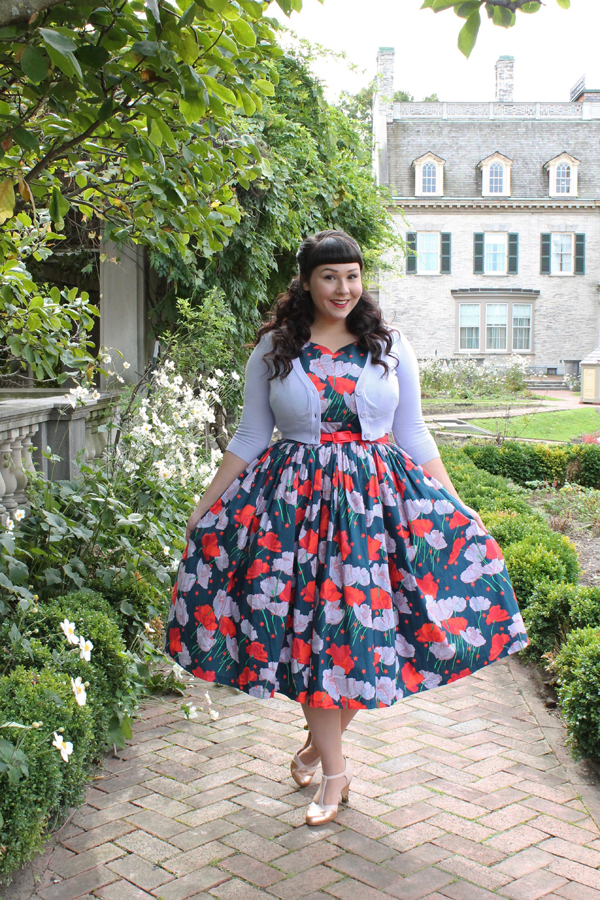fabulous fit and flare floral dress with pockets