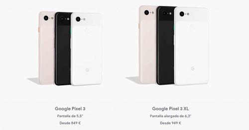 google-pixel-3-precios