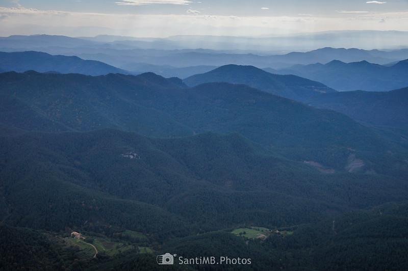 Vistas al Sureste desde los Rasos de Clarent
