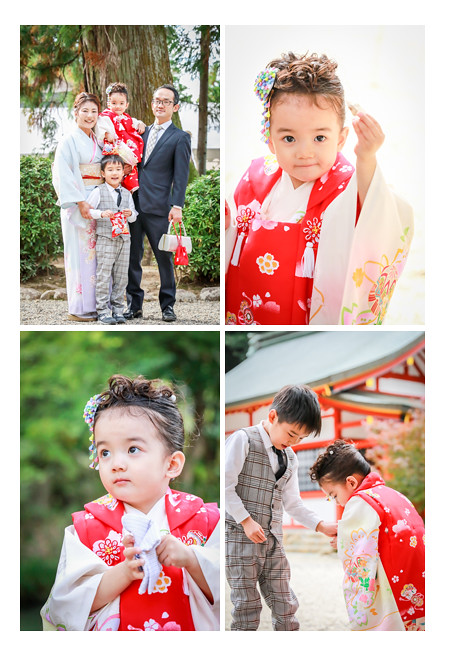 七五三 大縣神社 愛知県犬山市 3歳の女の子