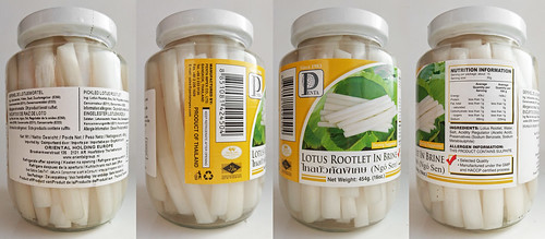 Gepekelde lotuswortel