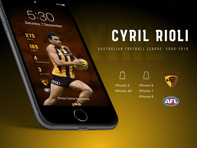 Cyril Rioli (Hawthorn Hawks) iPhone Wallpaper