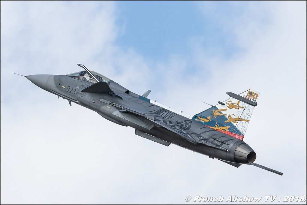 SAAB JAS-39 Gripen Czech Air Force Tiger Meet 100th Anniversary of Czechoslovakia BAFDAYS Kleine-Brogel 2018 BELGIAN AIR FORCE DAYS 2018 BA Kleine Brogel Canon Sigma France contemporary lens Meeting Aerien 2018