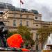Fluorescent interloper at Trafalgar Square