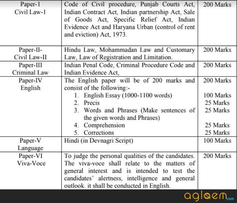HCS (Judicial Branch) Examination 2017   107 Vacancy