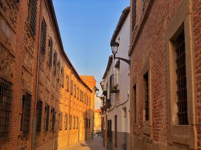 Calle de las monjas en Coria, donde se ubica el convento de la Madre de Dios