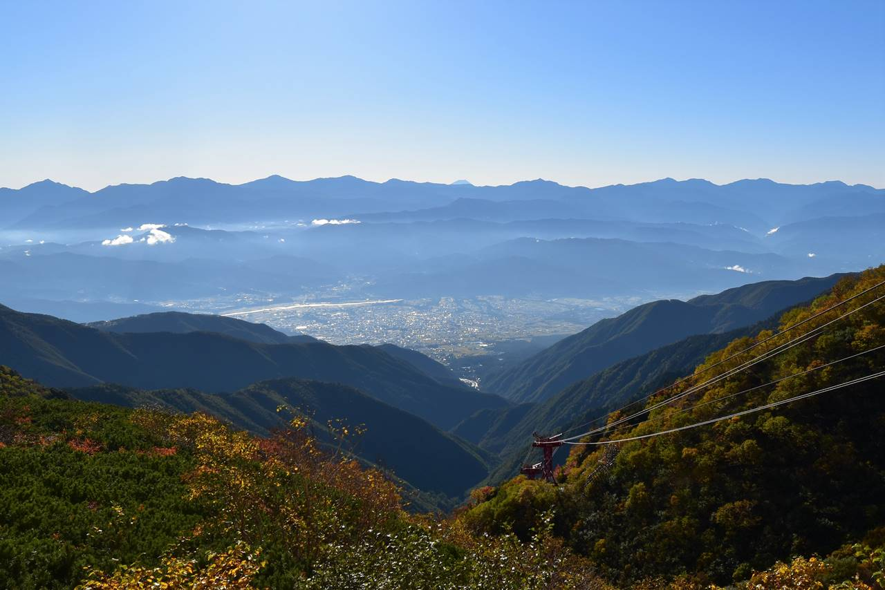 千畳敷から眺める南アルプスと富士山