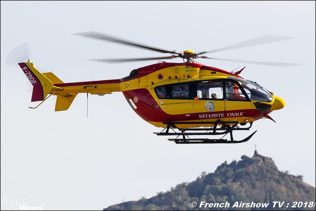 EC-145 Sécurité Civile , Dragon , Ailes et Volcans - Aérodrome d'Issoire - Le Broc , Cervolix 2018 & La Montagne , Canon EOS , Sigma France , contemporary lens , Meeting Aerien 2018