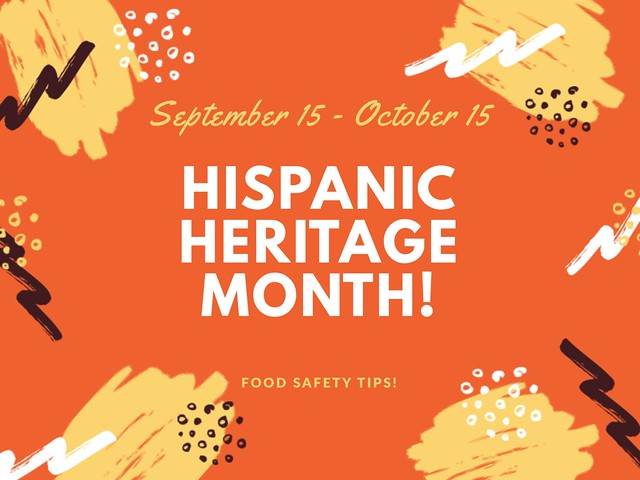 Hispanic Heritage Month Food Safety Tips graphic