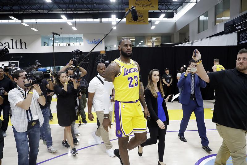 LeBron James的復健進度邁出一大步。(達志影像資料照)