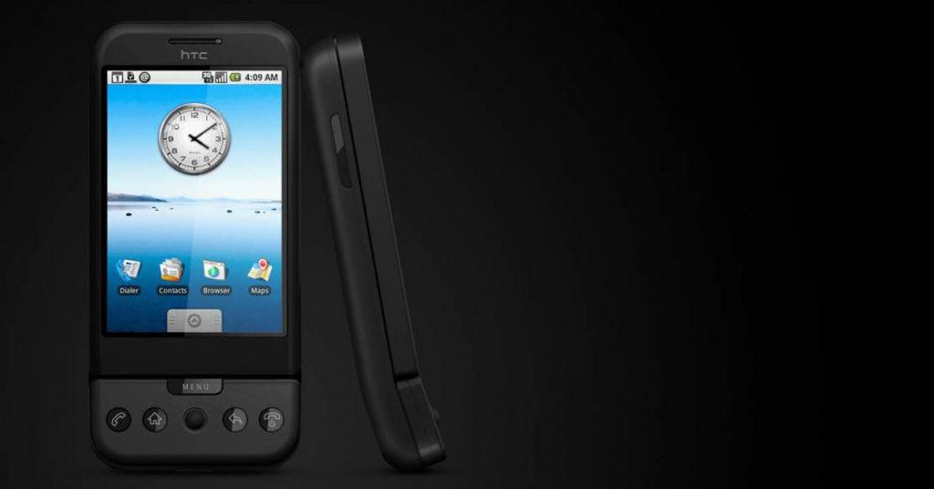 Diez años del primer móvil Android, el T-Mobile G1 o HTC Dream
