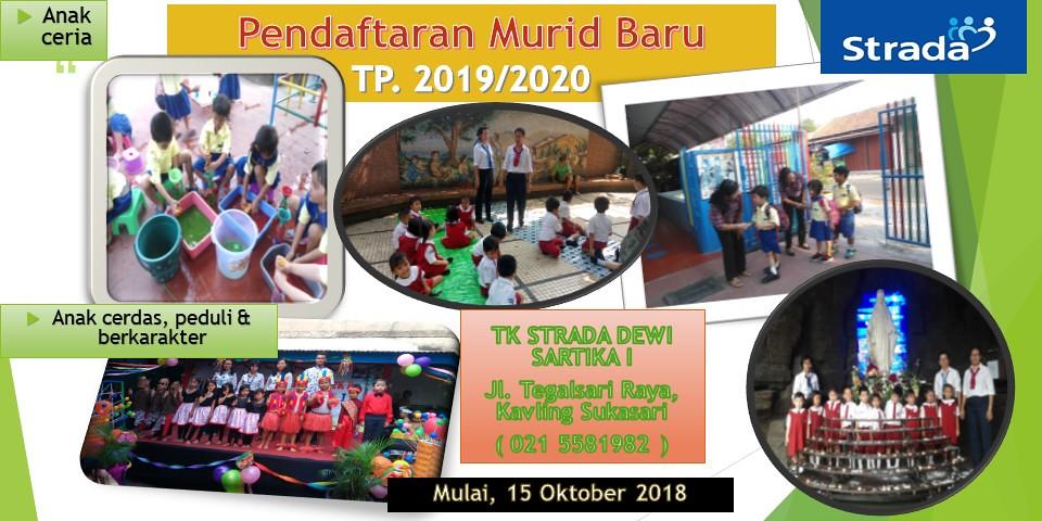 Pendaftaran Murid Baru TK Dewi Sartika 1 TP. 2019-2020 Sudah Dimulai