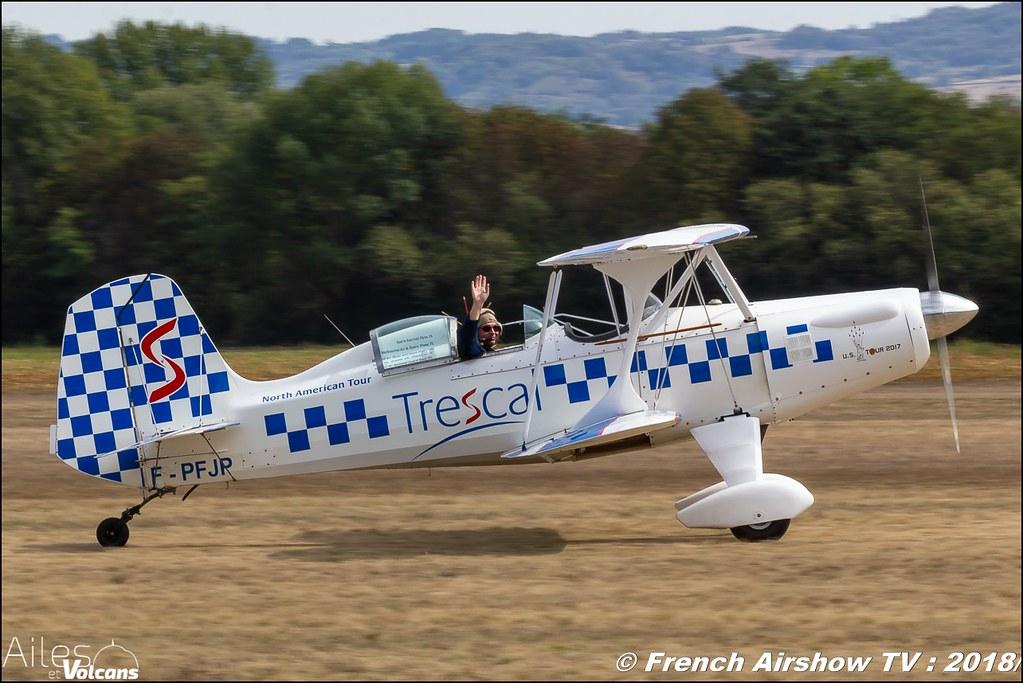 Starduster SA 300 trescal F-PFJP , Ailes et Volcans - Aérodrome d'Issoire - Le Broc , Cervolix 2018 & La Montagne , Canon EOS , Sigma France , contemporary lens , Meeting Aerien 2018