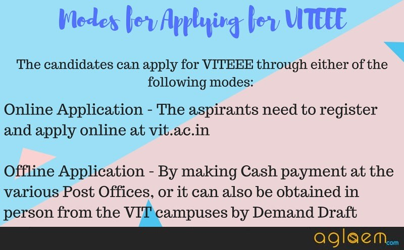VITEEE 2019 Application Process
