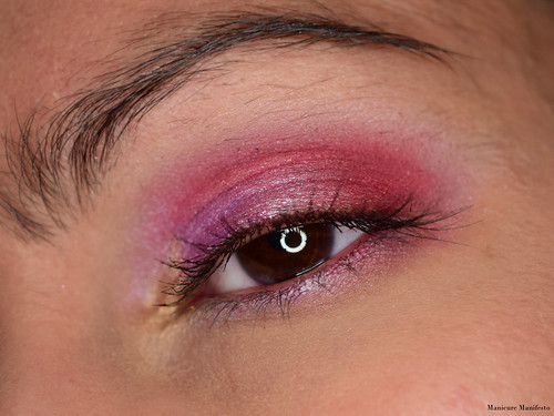 Purple Red eyeshadow tutorial