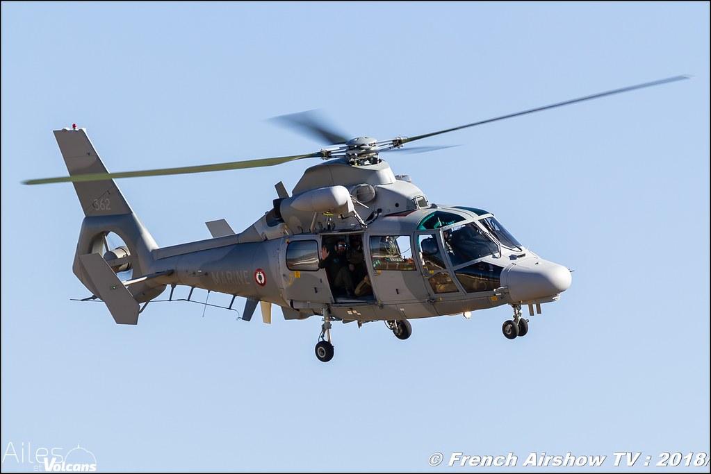 Hélicoptères AS565 Panther de la Marine Nationale française , Ailes et Volcans - Aérodrome d'Issoire - Le Broc , Cervolix 2018 & La Montagne , Canon EOS , Sigma France , contemporary lens , Meeting Aerien 2018