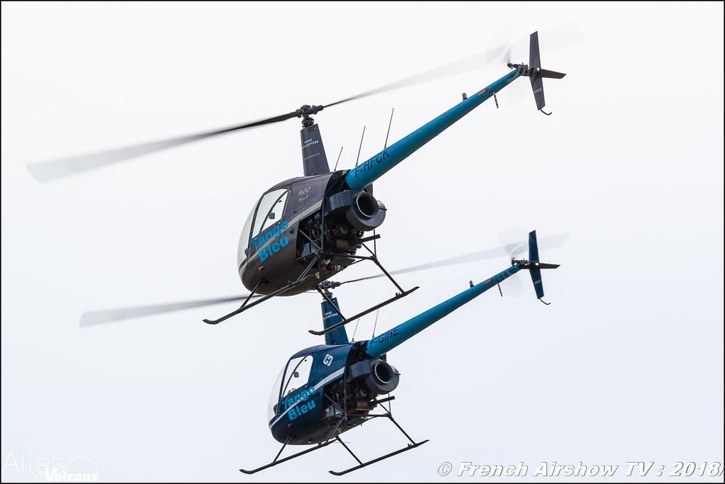 Tango Bleu , Robinson 22 , Patrouille hélicoptères , Ailes et Volcans - Aérodrome d'Issoire - Le Broc , Cervolix 2018 & La Montagne , Canon EOS , Sigma France , contemporary lens , Meeting Aerien 2018