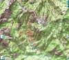 Carte IGN du Haut-Cavu avec les secteurs Lora - Carciara - Paliri et les travaux du Chemin de Paliri au 13/10/2018