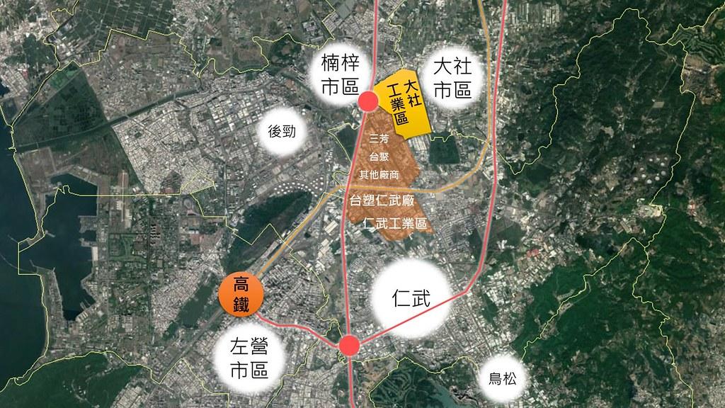 大社工業區位置圖。圖片來源:地球公民基金會