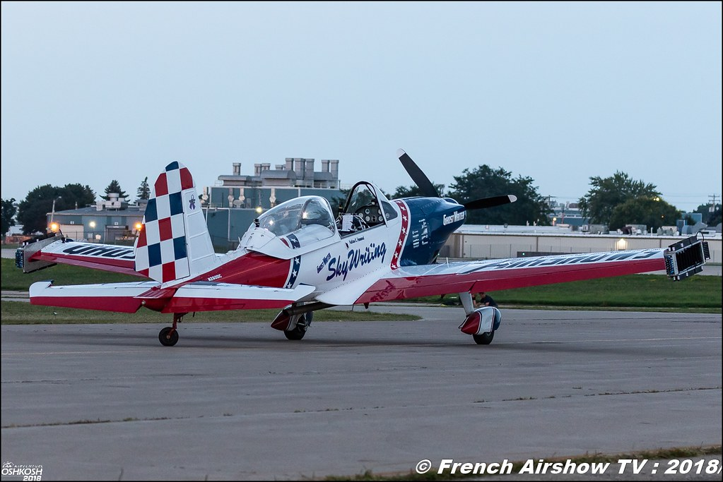 GhostWriter Airshows Super Chipmunk Nathan K. Hammond EAA AirVenture Oshkosh 2018 Wisconsin Canon Sigma France contemporary lens Meeting Aerien 2018