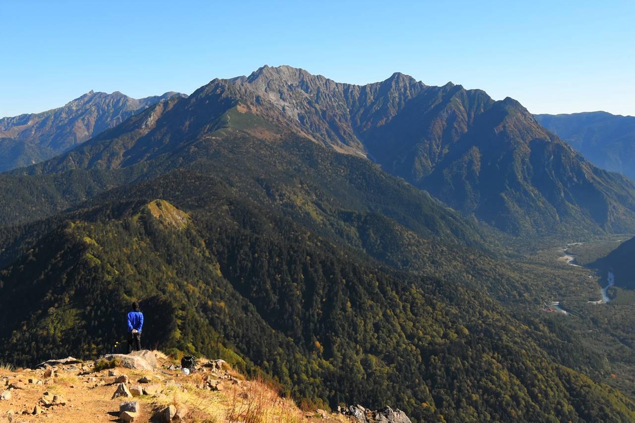 焼岳山頂から望む穂高連峰