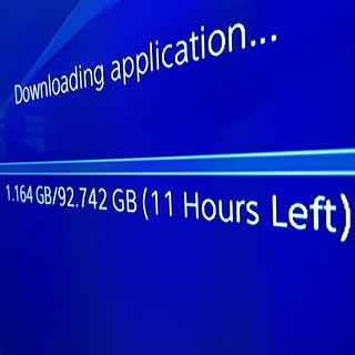 Photo of the PlayStation 4 download progress bar