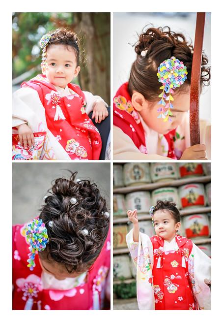七五三 3歳の女の子 大縣神社 愛知県犬山市