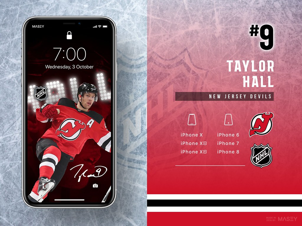 Taylor Hall (New Jersey Devils) iPhone Wallpaper
