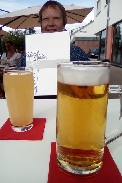 Dobel im Nordschwarzwald ... Sommer 2018 ... Flammerie Café Ratskeller... Foto: Brigitte Stolle