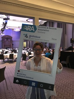 The BCIT Archivist all ready for things to get started at #ARA2018!
