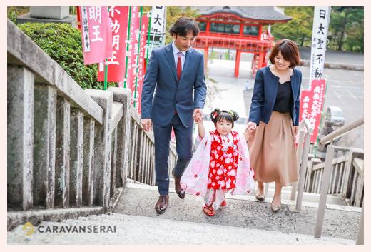 犬山・成田山で七五三ロケーションフォト♪3歳の女の子