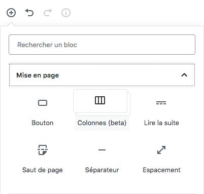 Les blocs de mise en page