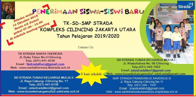 PENERIMAAN MURID BARU TAHUN PELAJARAN 2019-2020 SD STRADA TUNAS KELUARGA MULIA II