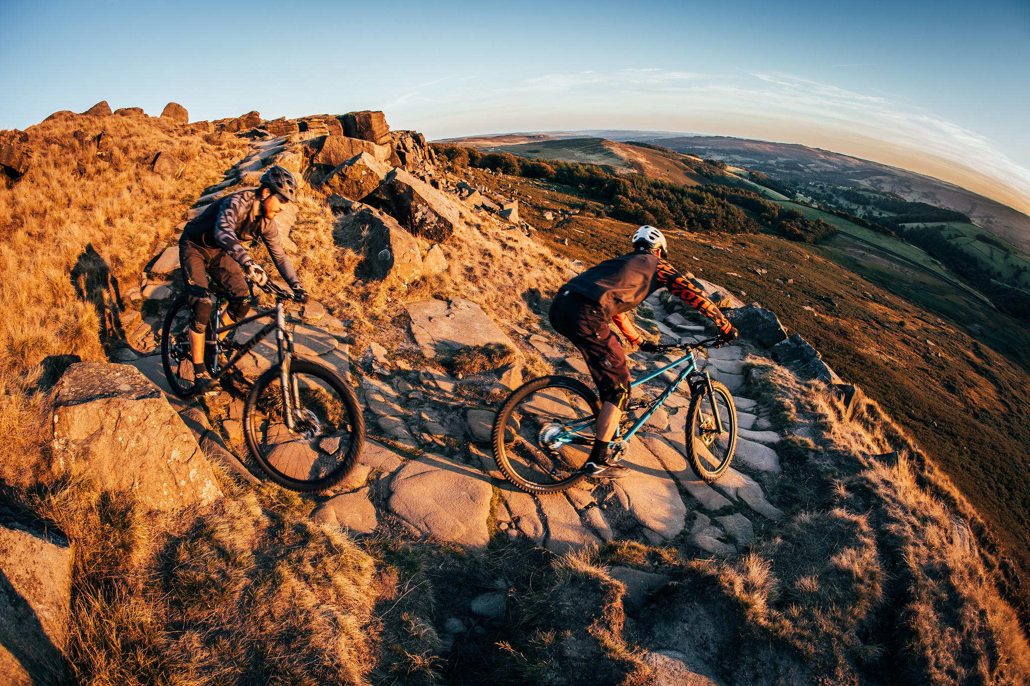The new RocketMAX 29er Enduro bike, Reynolds 853, built in UK, Stanage Edge