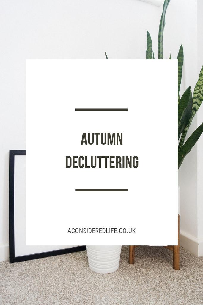 Autumn Decluttering