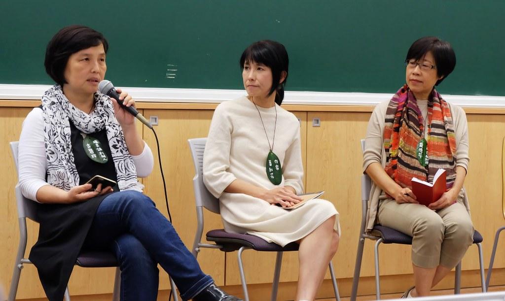左起獵果舖創辦人古碧玲、作家番紅花、頤德國際總經理嚴德芬。攝影:陳文姿