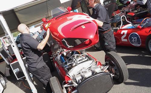 """Ferrari 156 Formula One """"Sharknose"""" 1961 and Arturo Merzario 43189221670_d4f4ec34b4"""